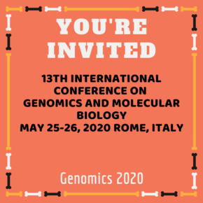 13th International Conference on Genomics and Molecular Biology