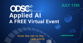 ODSC Applied AI - Free Virtual Event