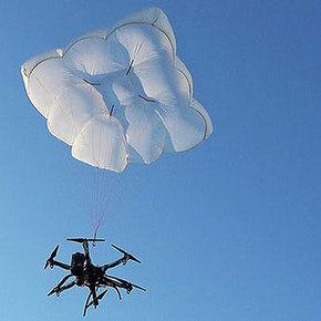 Drone Rescue Parachutes Drones to Safety