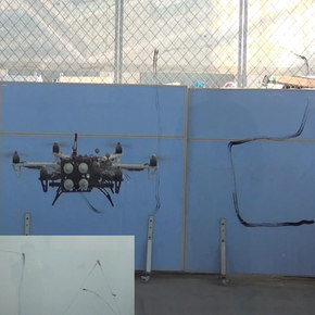 Hexacopter Drone Tests Skyscraper Safety