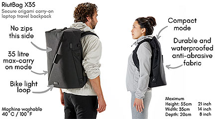Expandable, Theft-Proof RiutBag X35