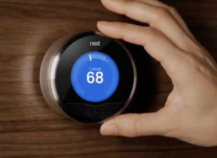 learning thermostat will turn up the heat for you. Black Bedroom Furniture Sets. Home Design Ideas