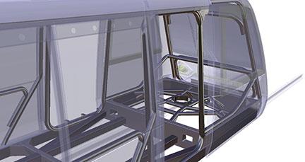 Woven Carbon Fiber Frame for Very Light Rail