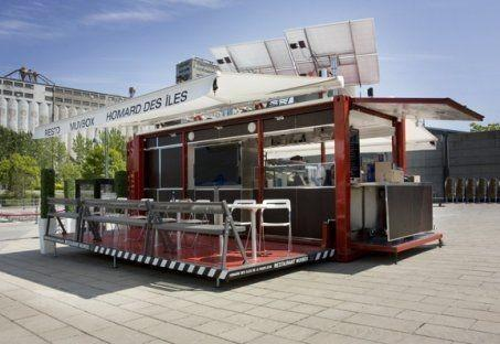 Shipping Container Into Solar Powered Restaurant