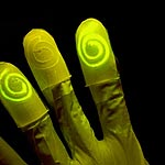 Living Sensor Material Glows on Contact