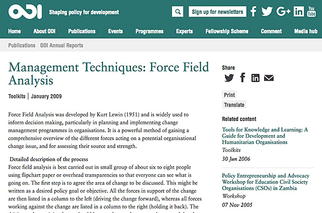 Force-Field Analysis