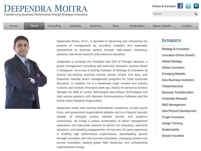 Dr. Deependra Moitra